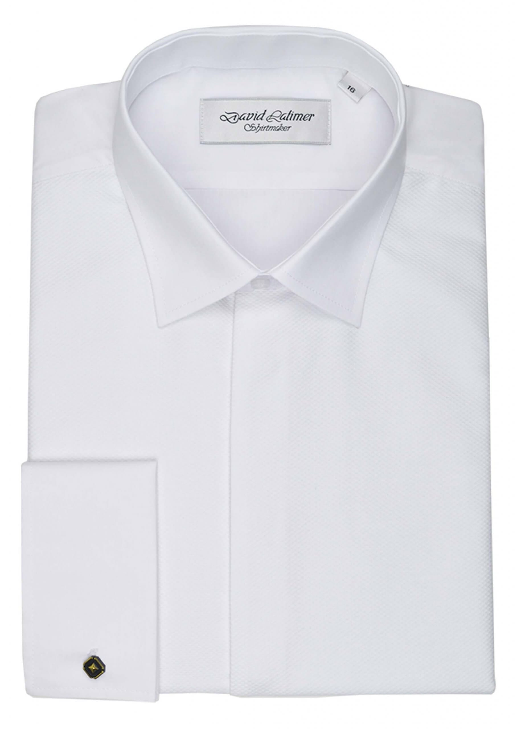 Marcella Front Dress Shirt, in Standard or Wing Collar