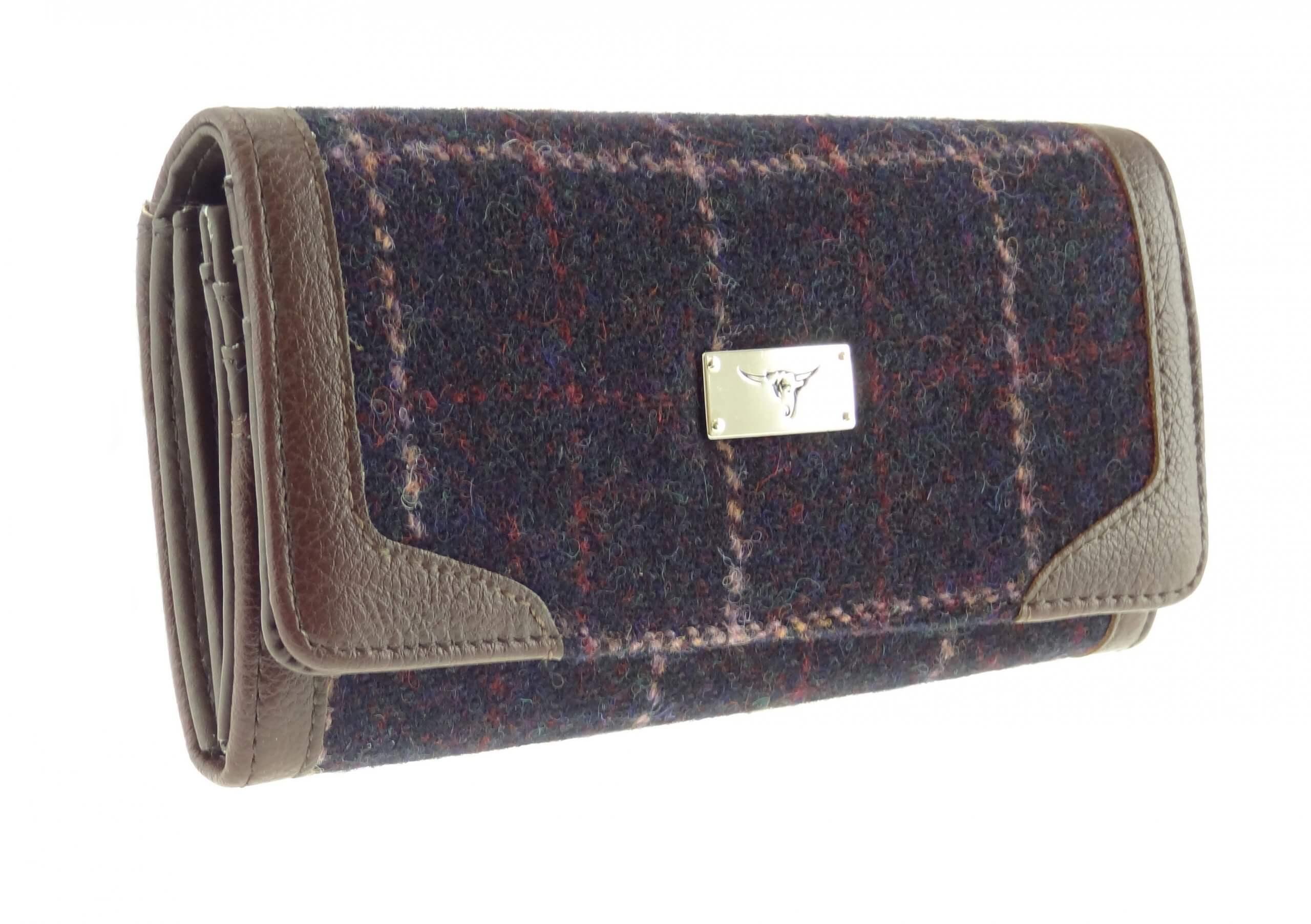 Womens Harris Tweed Long Wallet Purse LB2000