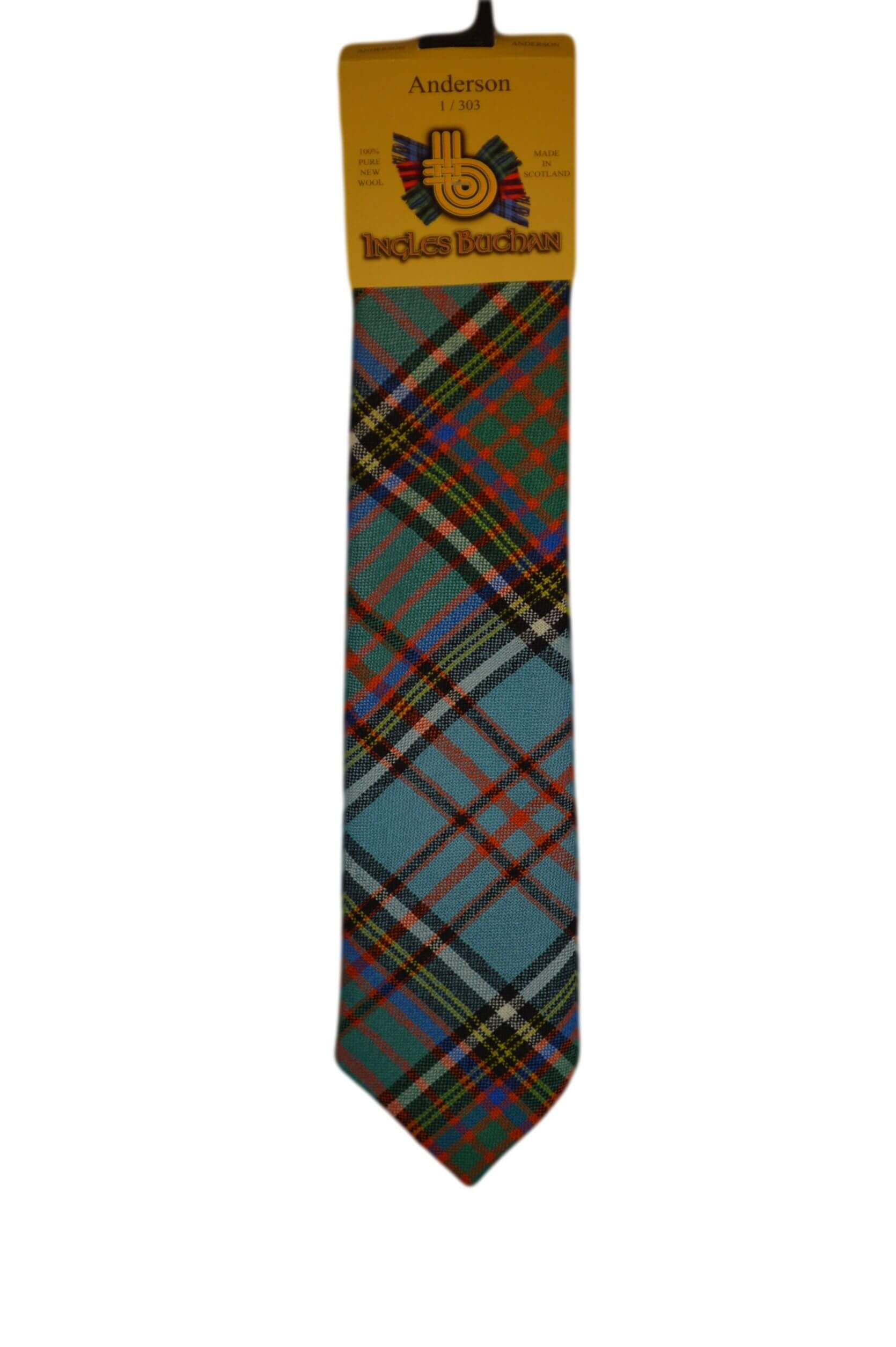 Men's Wool Tartan Tie - Anderson Ancient - Blue