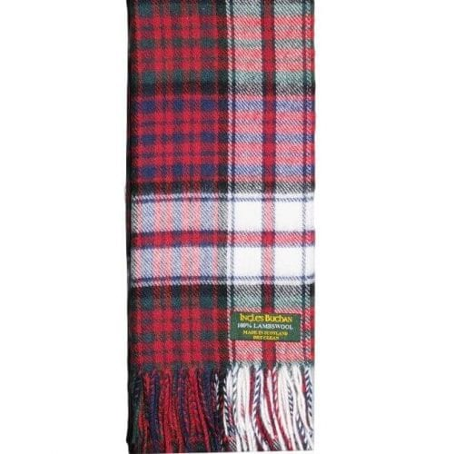 MacDonald Dress Lambswool Tartan Scarf