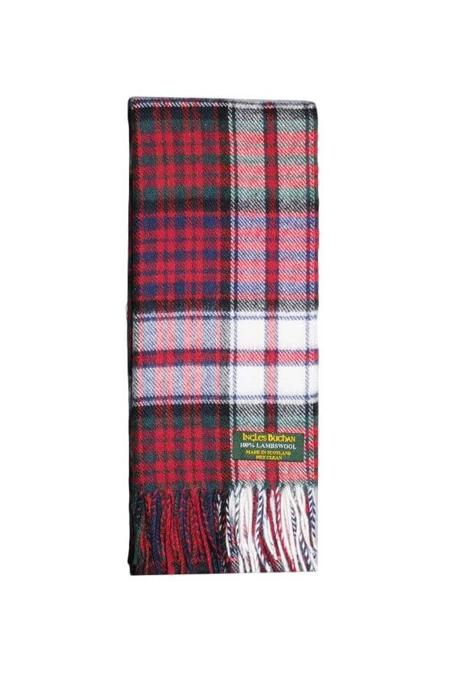 MacDonald Dress Lambswool Tartan Scarf